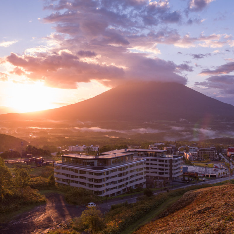 Skye Niseko Exterior Summer Sunset Low Res 2