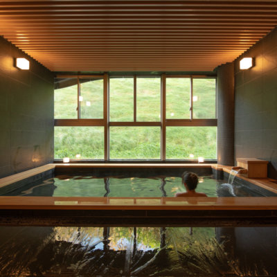 Completely unwind in the Skye Niseko onsen, exclusive to our guests.