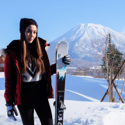 Woonsen ready for a big day on the Niseko slopes