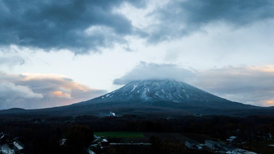 Snow On Mt Yotei