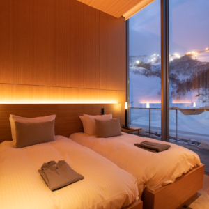 Night skiing and forests can be enjoyed from your personal balcony.