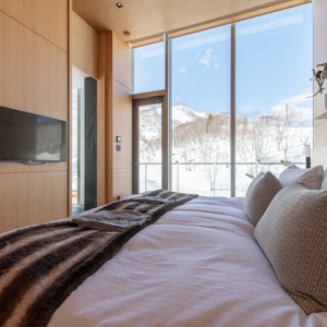 Amazing winter landscapes from your bedroom.