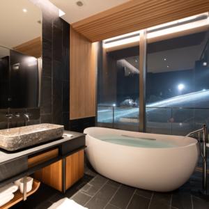 Amazing views from your warm bathtub.
