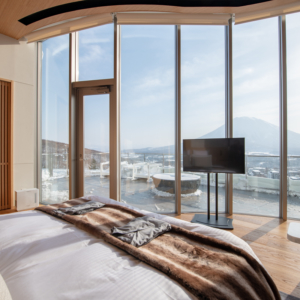 Wake up to Yotei views from the Master Bedroom.