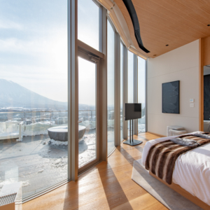 Head through to your ensuite which also has amazing Yotei views.