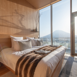 Wake up to Mt Yotei on crisp winter mornings.