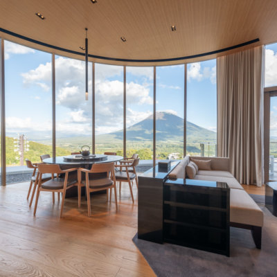 Summer is stunning from the Yotei South living area.